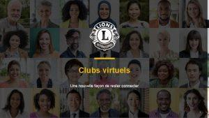 Clubs virtuels Une nouvelle faon de rester connecter