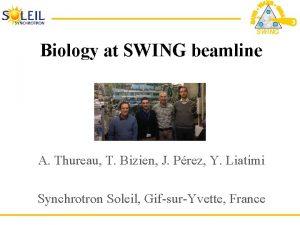 SWING Biology at SWING beamline A Thureau T