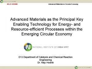 NEJC HODNIK Advanced Materials in Circular Economy Advanced