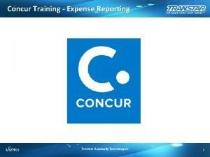 Concur Training Expense Reporting 332015 Transtar Autobody Technologies