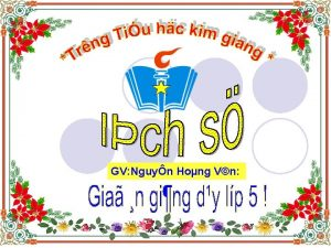 GV Nguyn Hong Vn Cc phong tro chng