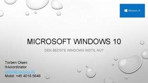 MICROSOFT WINDOWS 10 DEN BEDSTE WINDOWS INDTIL NU