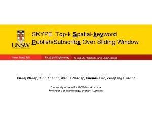 SKYPE Topk Spatialkeyword PublishSubscribe Over Sliding Window Computer