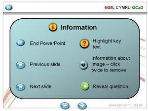 NGf L CYMRU GCa D Information End Power