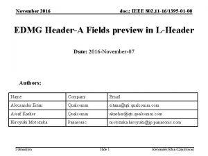 November 2016 doc IEEE 802 11 161395 01