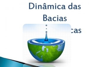 Dinmica das Bacias Hidrogrficas Como se denomina um