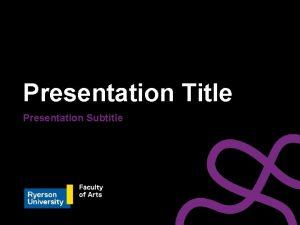 Presentation Title Presentation Subtitle Presentation Title Presentation Subtitle