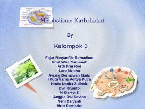 Metabolisme Karbohidrat By Kelompok 3 Fajar Rusyanfikr Ramadhan