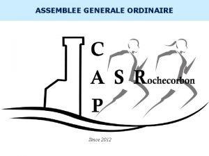 INTERNE ASSEMBLEE GENERALE ORDINAIRE Since 2012 INTERNE Association