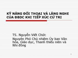 K NNG I THOI V LNG NGHE CA