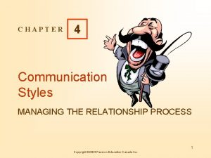 CHAPTER 4 Communication Styles MANAGING THE RELATIONSHIP PROCESS