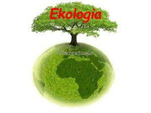 Ekologia Prezentacja Wstp Jak wiemy ekologia jest bardzo