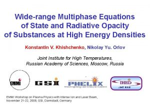 Widerange Multiphase Equations of State and Radiative Opacity