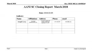 March 2018 doc IEEE 802 11 180583 r