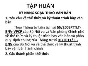 TP HUN K NNG SON THO VN BN