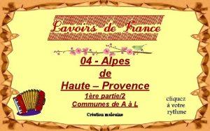 04 Alpes de Haute Provence 1re partie2 Communes