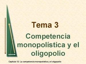 Tema 3 Competencia monopolstica y el oligopolio Captulo