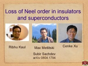 Loss of Neel order in insulators and superconductors