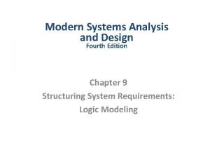 Modern Systems Analysis and Design Fourth Edition Chapter