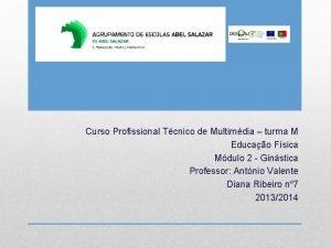 Curso Profissional Tcnico de Multimdia turma M Educao