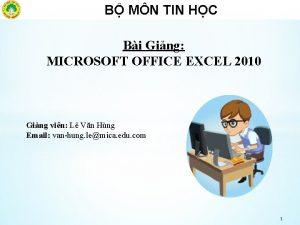 B MN TIN HC Bi Ging MICROSOFT OFFICE