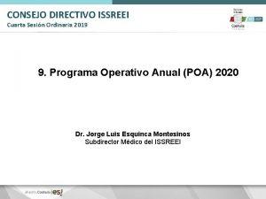 CONSEJO DIRECTIVO ISSREEI Cuarta Sesin Ordinaria 2019 9