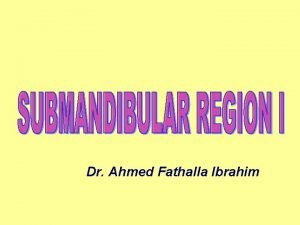 Dr Ahmed Fathalla Ibrahim SUPRAHYOID MUSCLES DIGASTRIC MUSCLE