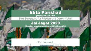 Ekta Parishad gemeinsames Forum Eine Bewegung fr Frieden