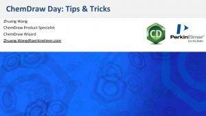 Chem Draw Day Tips Tricks Zhuang Wang Chem