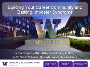 Building Your Career Community and Battling Imposter Syndrome