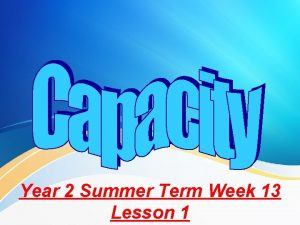 Year 2 Summer Term Week 13 Lesson 1