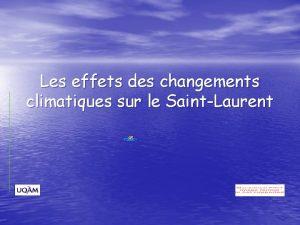 Les effets des changements climatiques sur le SaintLaurent