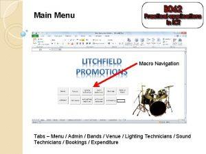 Main Menu Macro Navigation Tabs Menu Admin Bands