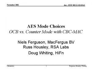 November 2001 doc IEEE 802 11 01634 r