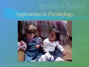 Approaches to Psychology 1 The Different Approaches The