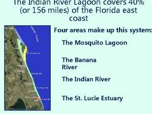 The Indian River Lagoon covers 40 or 156