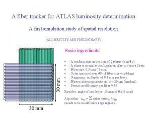 A fiber tracker for ATLAS luminosity determination A