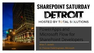Power Apps and Microsoft Flow for Share Point