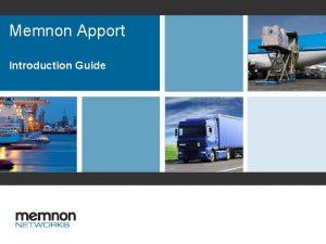 Memnon Apport Introduction Guide Introduction Guide Memnon Apport