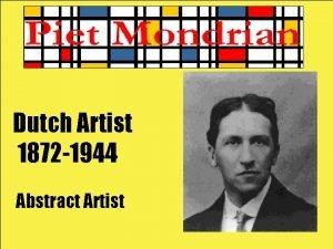 Dutch Artist 1872 1944 Abstract Artist He was