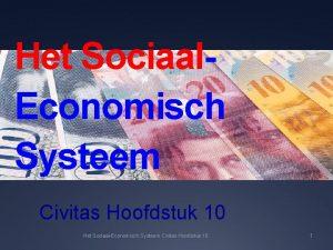 Het Sociaal Economisch Systeem Civitas Hoofdstuk 10 Het