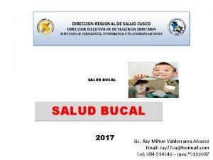 DIRECCION REGIONAL DE SALUD CUSCO DIRECCION EJECUTIVA DE