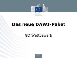 Das neue DAWIPaket GD Wettbewerb Das Paket vom
