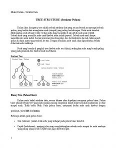Materi Kuliah Struktur Data TREE STRUCTURE Struktur Pohon