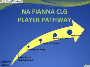 NA FIANNA CLG PLAYER PATHWAY Training to Win