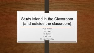 Study Island in the Classroom and outside the