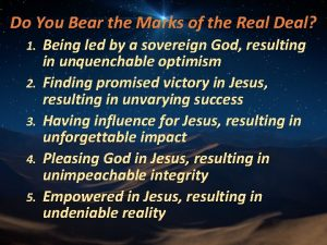 Do You Bear the Marks of the Real