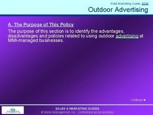 Hotel Marketing Guide 8535 Outdoor Advertising A The