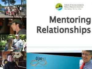 Mentoring Relationships Definitions of Mentoring It is a