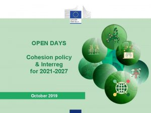 OPEN DAYS Cohesion policy Interreg for 2021 2027